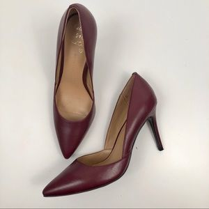 Banana Republic Dorsay Pumps Black Rose Burgundy